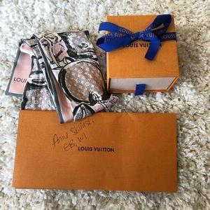 Authentic Louis Vuitton silk bandeau